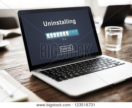 Installing Business Device Computer Technology Concept
