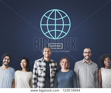 Enter Internet Computer Privacy System Protection Concept