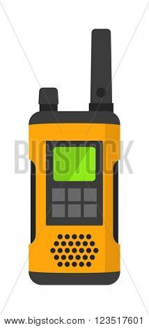 Radio set transceiver with antena receiver and police emergency radio set talkie tool.
