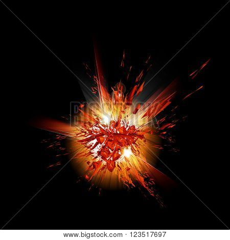 explosion grunge background easy all editable