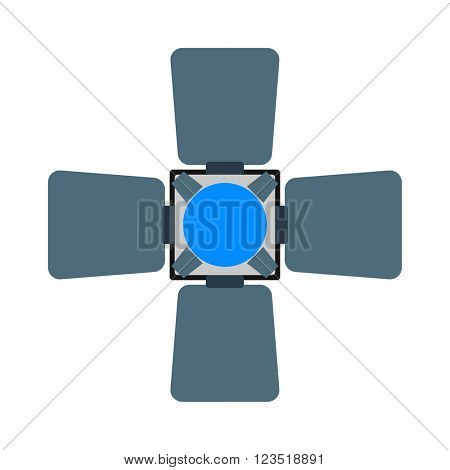 Camera flash speed photography white equipment vector.