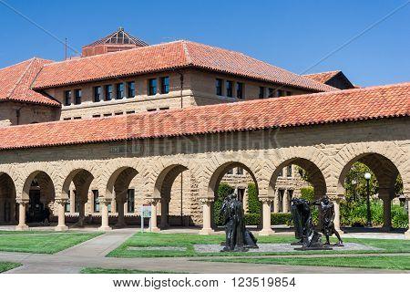 Palo Alto, Ca/usa - Circa June 2011: Auguste Rodin - The Burghers Of Calais Sculptures In Memorial C