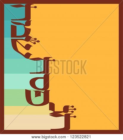abstract greeting card for jewish  holiday Passover. happy passover in hebrew