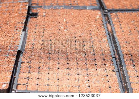 Checkered soil prepare for cultivation, stock photo