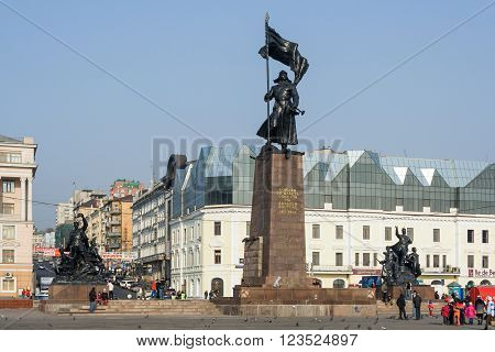 Vladivostok, Russia - Circa October 2006: Square Of The Fighters For The Soviet Power - Main Square