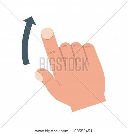 Swipe, up, scroll icon vector image.Can also be used for user touch gestures. Suitable for mobile apps, web apps and print media.