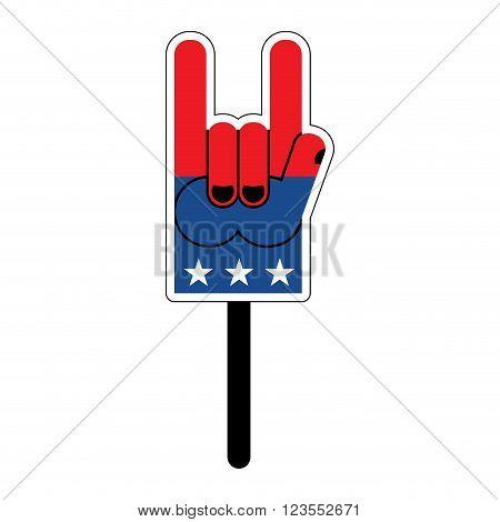 Foam Finger For Elections In America. Foam Finger To Political Debate In United States. Political Fo