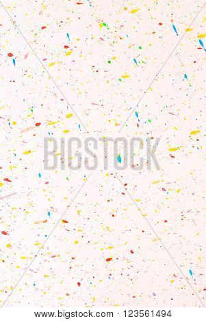 Splash - Abstract Painting Colors On Paper Background - Free Space For Text
