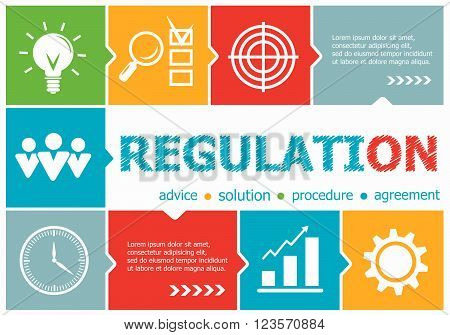 Regulation Design Illustration Concepts For Business, Consulting, Management, Career.