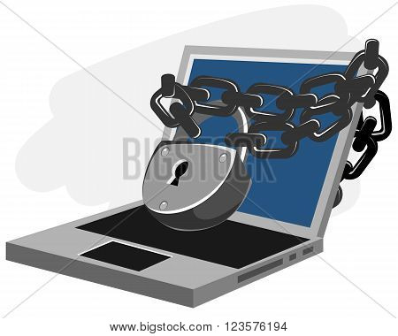 Vector illustration of a computer security concept