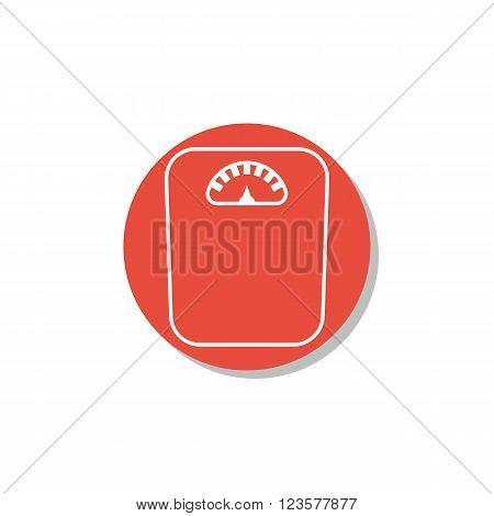 Libra Icon In Vector Format. Premium Quality Libra Icon. Web Graphic Libra Icon Sign On Red Circle B
