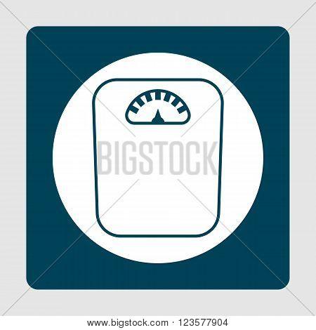 Libra Icon In Vector Format. Premium Quality Libra Icon. Web Graphic Libra Icon Sign On Blue Backgro
