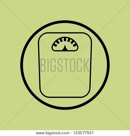 Libra Icon In Vector Format. Premium Quality Libra Icon. Web Graphic Libra Icon Sign On Green Circle