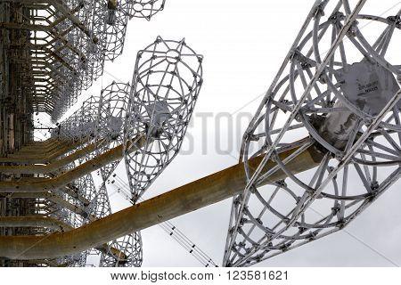 Soviet radar facility DUGA in Chernobyl Exclusion Zone
