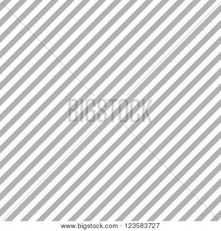 Grey diagonal stripes seamless pattern. Vector striped graphic design