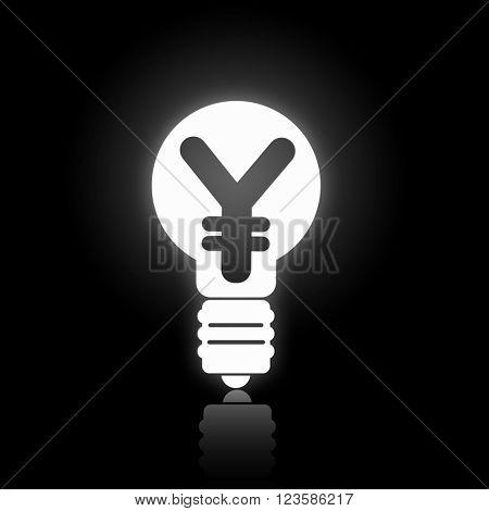 Bulb white icon