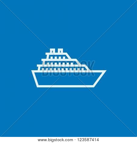 Cruise ship line icon.