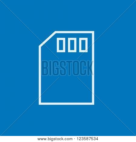 Sim card line icon.