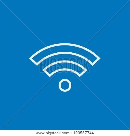 Wifi sign line icon.