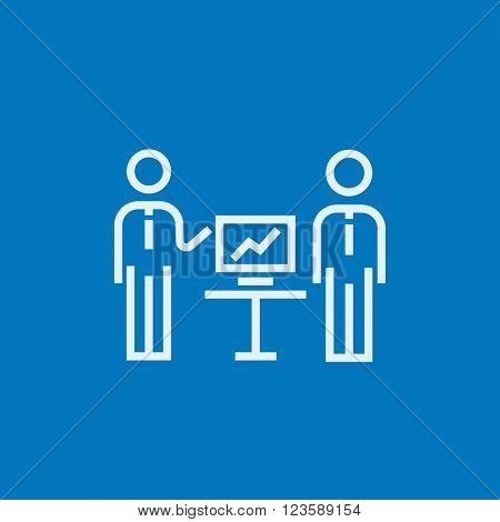 Business presentation line icon.
