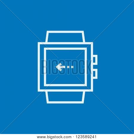 Smartwatch line icon.