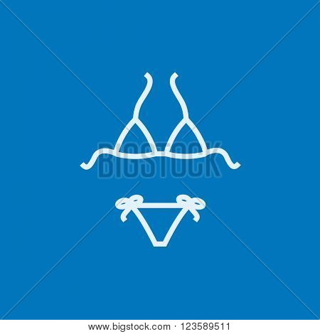 Swimsuit for women line icon.