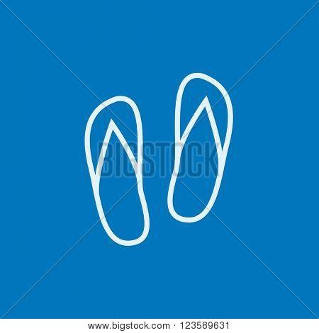Beach slipper line icon.