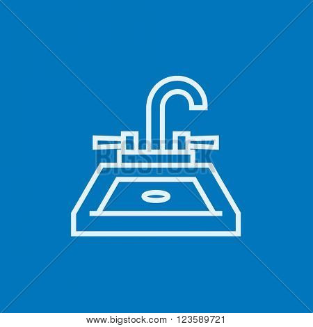 Sink line icon.