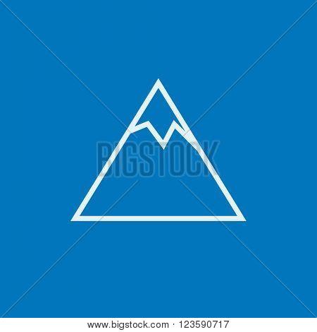 Mountain line icon.