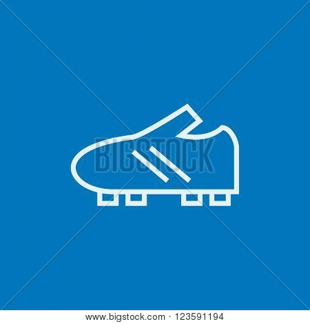 Football boot line icon.