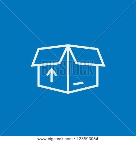 Carton package box line icon.