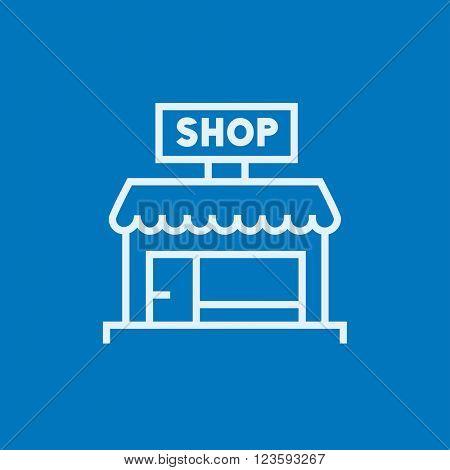Shop line icon.