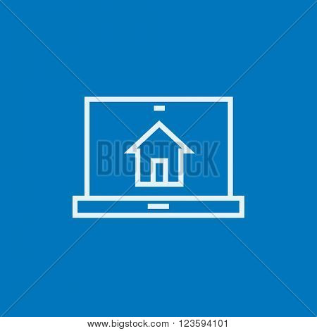 Smart house technology line icon.