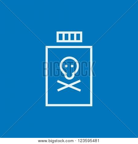 Bottle of poison line icon.