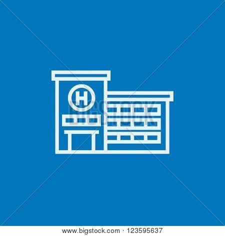 Hospital building line icon.