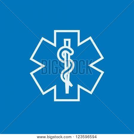 Medical symbol line icon.
