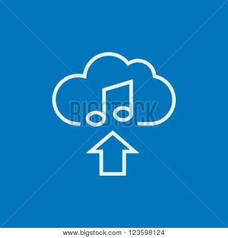 Upload music line icon.