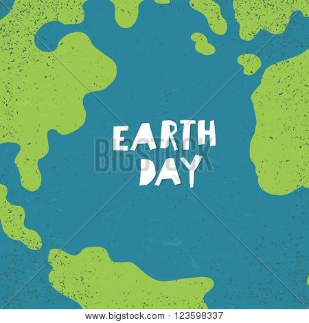 """Earth day"" concept. Creative design poster for Earth Day."