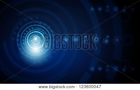 High technology blue background