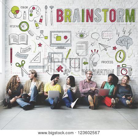 Brainstorm Sharing Ideas Creative Planning Concept