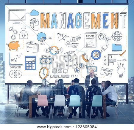 Management Manager Controlling Leadership Concept