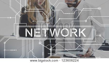 Network Internet Connection Social Computer Concept