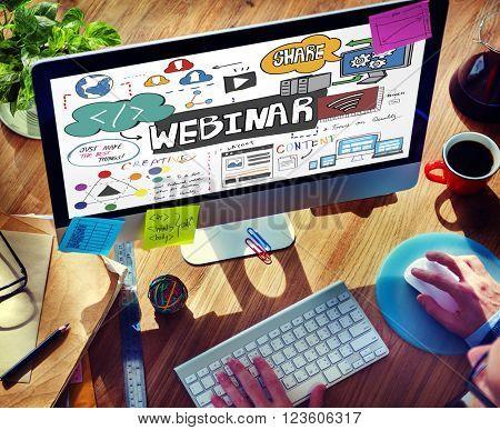 Webinar Technology Computer E-learning Online Concept