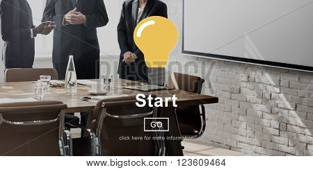 Start Build Begin Motivate Ready Successful First Concept