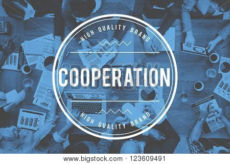 Cooperation Unity Together Teamwork Partnership Concept