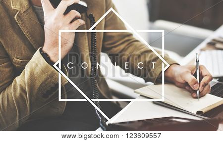 Connect Communicate Corporate Business Concept