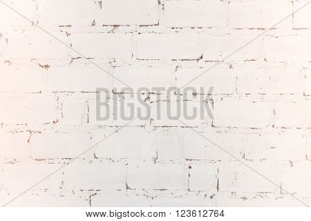 White weathered texture brick wall background stock photo