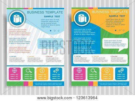 Toilet Paper Symbol On Vector Brochure Flyer Design Layout Template