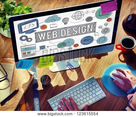Web Design Technology Digital Illustrations Concept