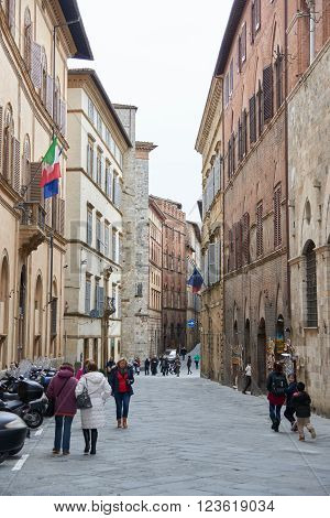 Street View Of San Gimignano